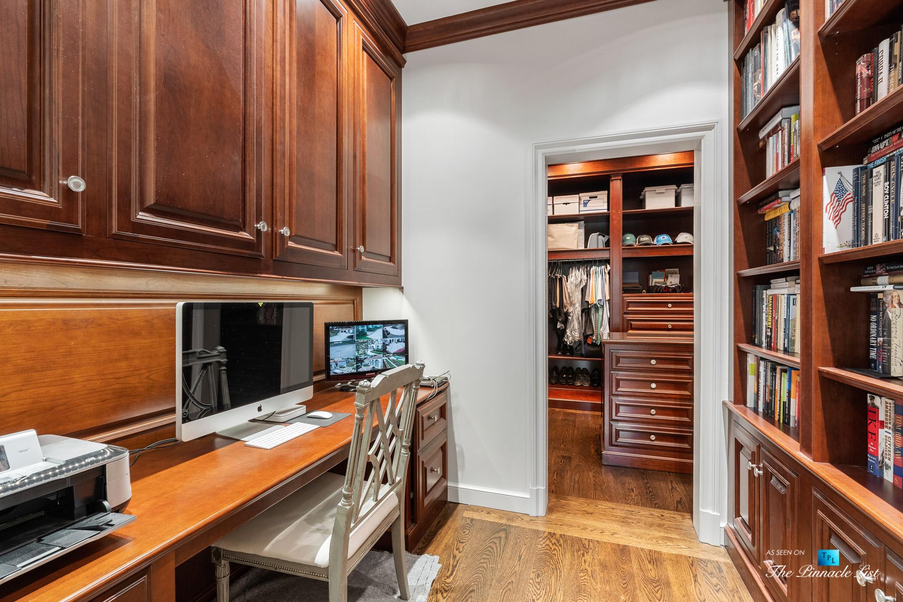 439 Blackland Rd NW, Atlanta, GA, USA – Private Computer Room – Luxury Real Estate – Tuxedo Park Mediterranean Mansion Home