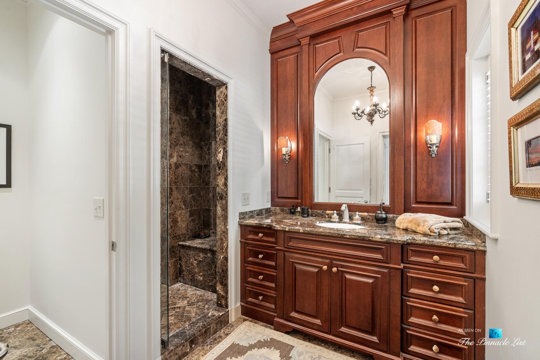 439 Blackland Rd NW, Atlanta, GA, USA - Bathroom with Shower - Luxury Real Estate - Tuxedo Park Mediterranean Mansion Home