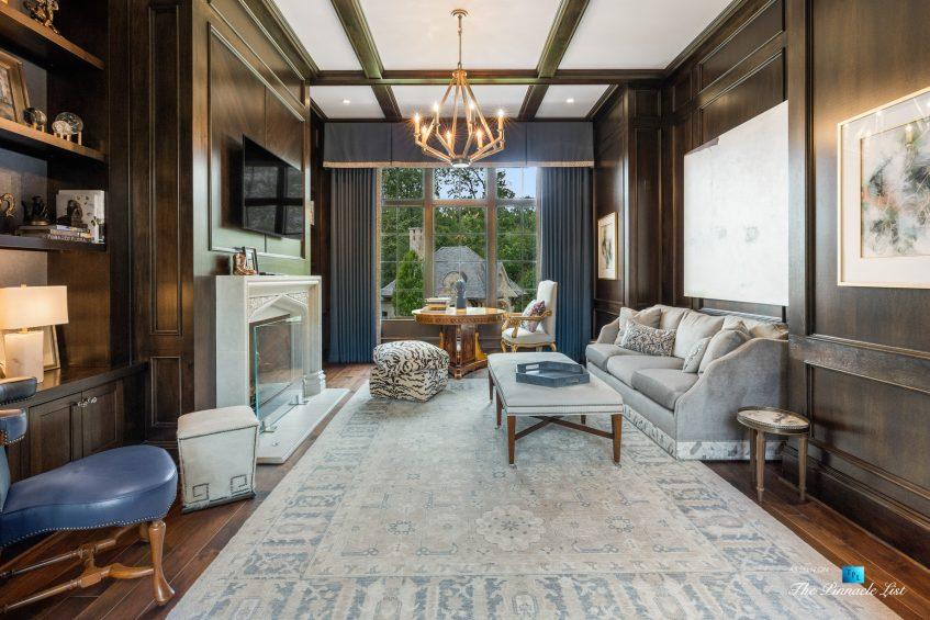 1150 W Garmon Rd, Atlanta, GA, USA - Sitting Area with Fireplace - Luxury Real Estate - Buckhead Estate Home