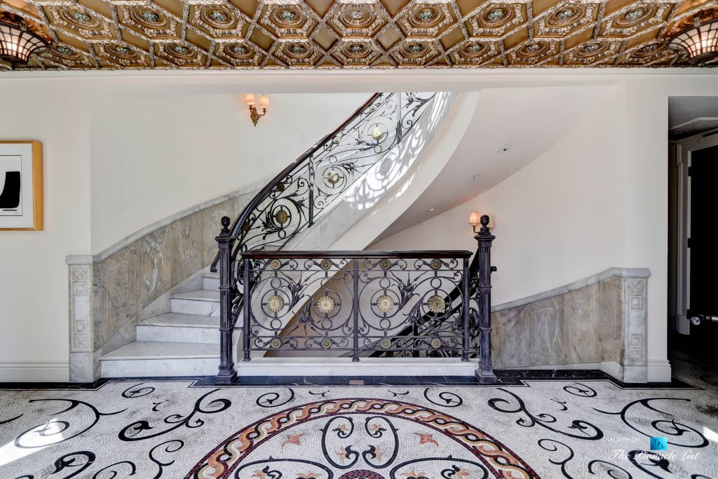 2806 The Strand, Hermosa Beach, CA, USA - Ornate Stairs Foyer - Luxury Real Estate - Oceanfront Home