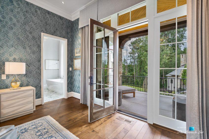 1150 W Garmon Rd, Atlanta, GA, USA - Master Bedroom Balcony Doors - Luxury Real Estate - Buckhead Estate Home
