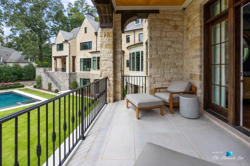1150 W Garmon Rd, Atlanta, GA, USA - Master Bedroom Private Balcony - Luxury Real Estate - Buckhead Estate Home
