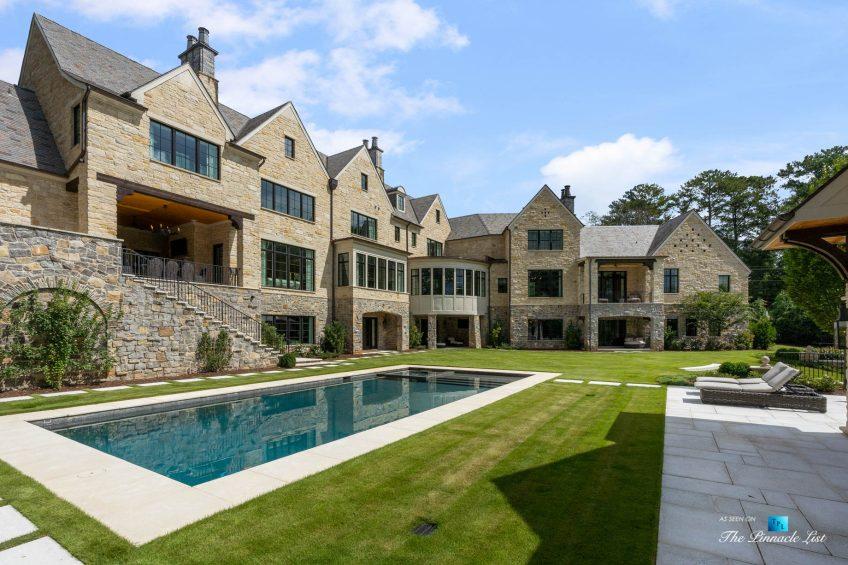 1150 W Garmon Rd, Atlanta, GA, USA - Backyard with Pool - Luxury Real Estate - Buckhead Estate Home