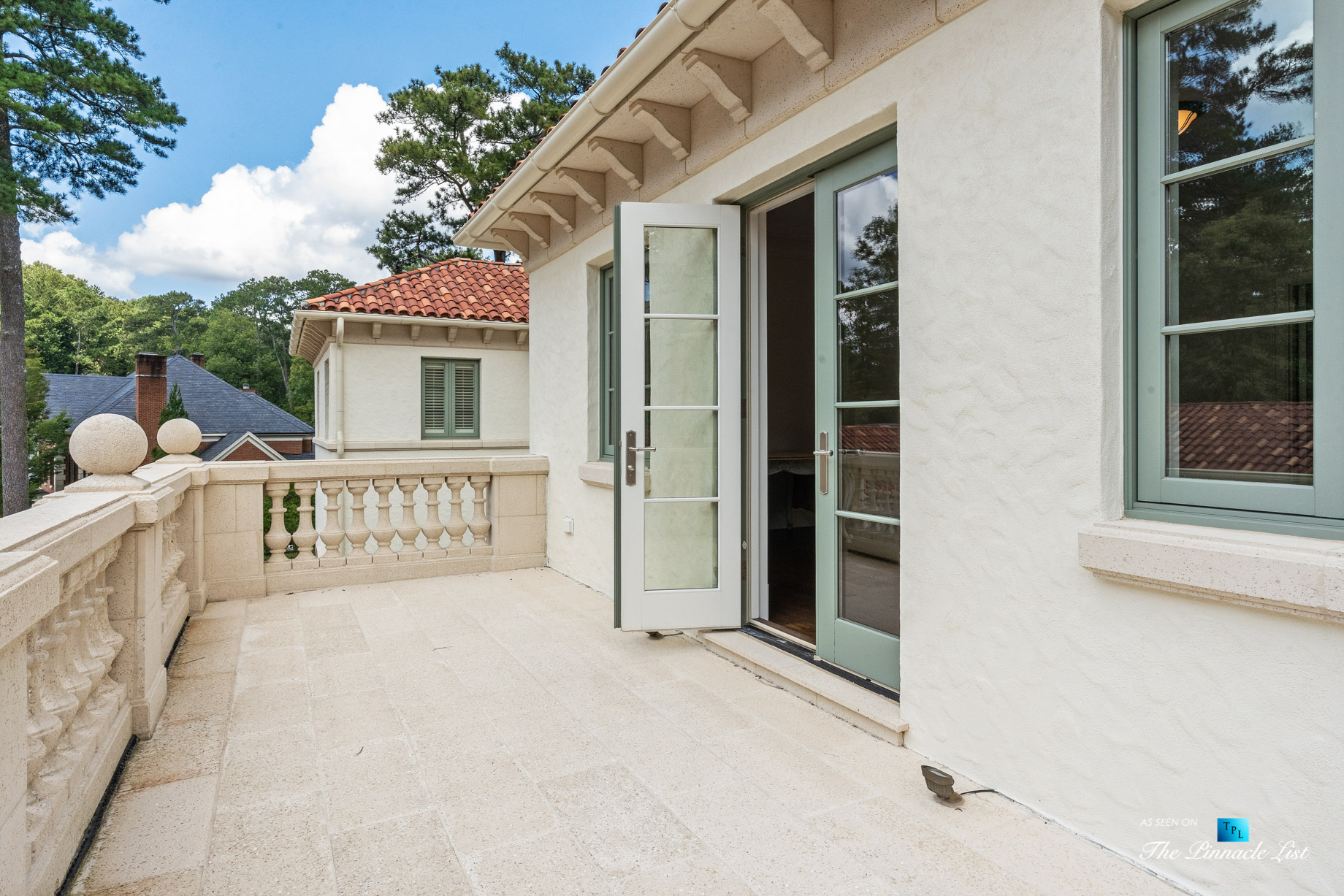 439 Blackland Rd NW, Atlanta, GA, USA – Private Balcony – Luxury Real Estate – Tuxedo Park Mediterranean Mansion Home