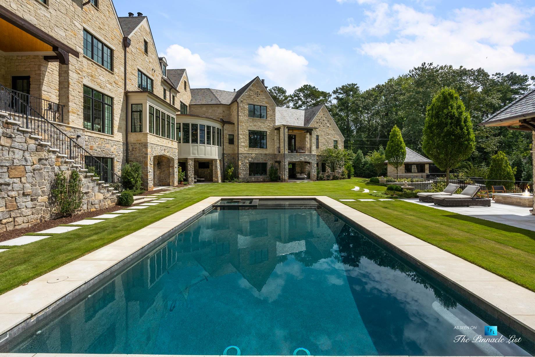 1150 W Garmon Rd, Atlanta, GA, USA - Backyard Pool - Luxury Real Estate - Buckhead Estate Home