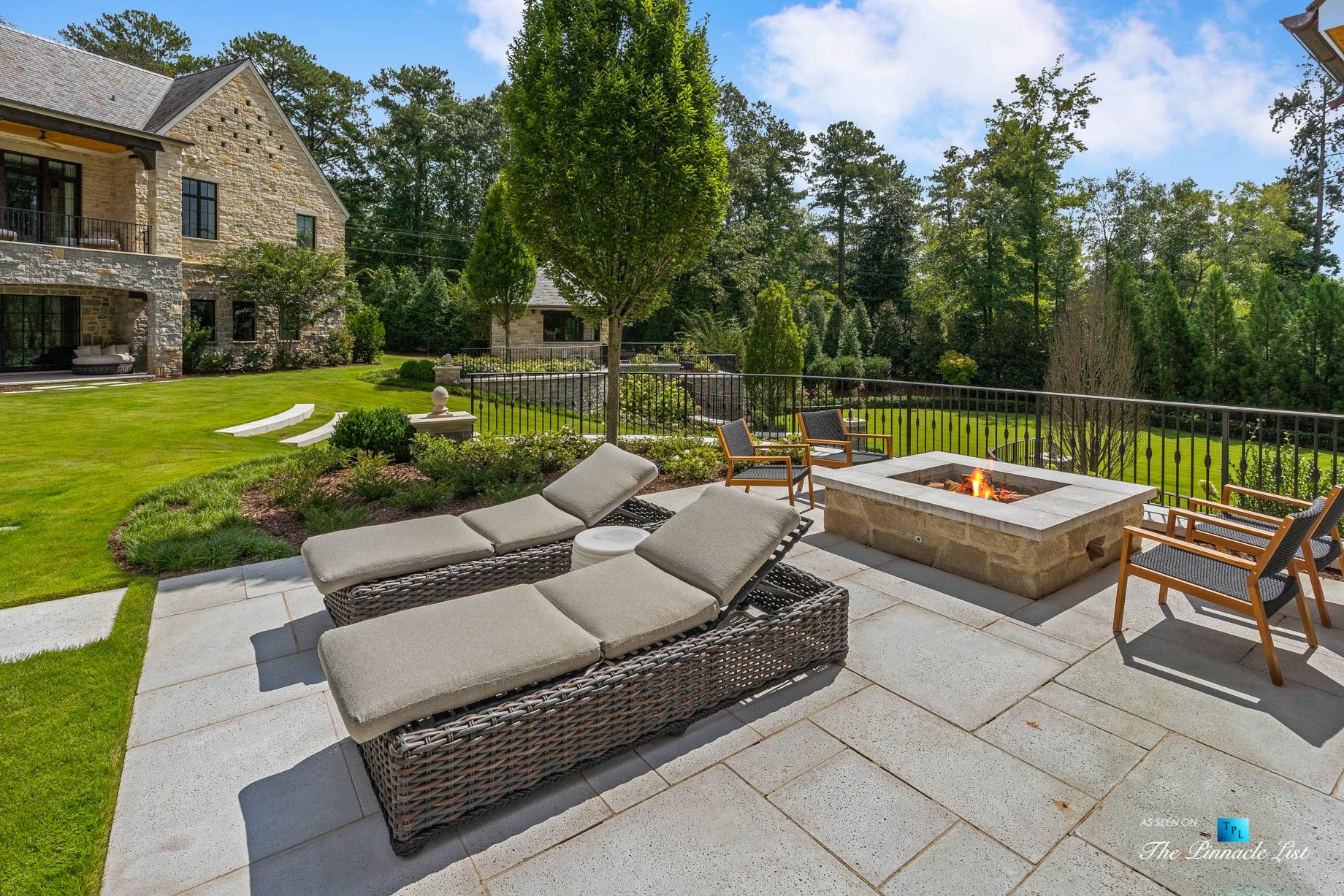 1150 W Garmon Rd, Atlanta, GA, USA – Backyard Lounge Chairs – Luxury Real Estate – Buckhead Estate Home
