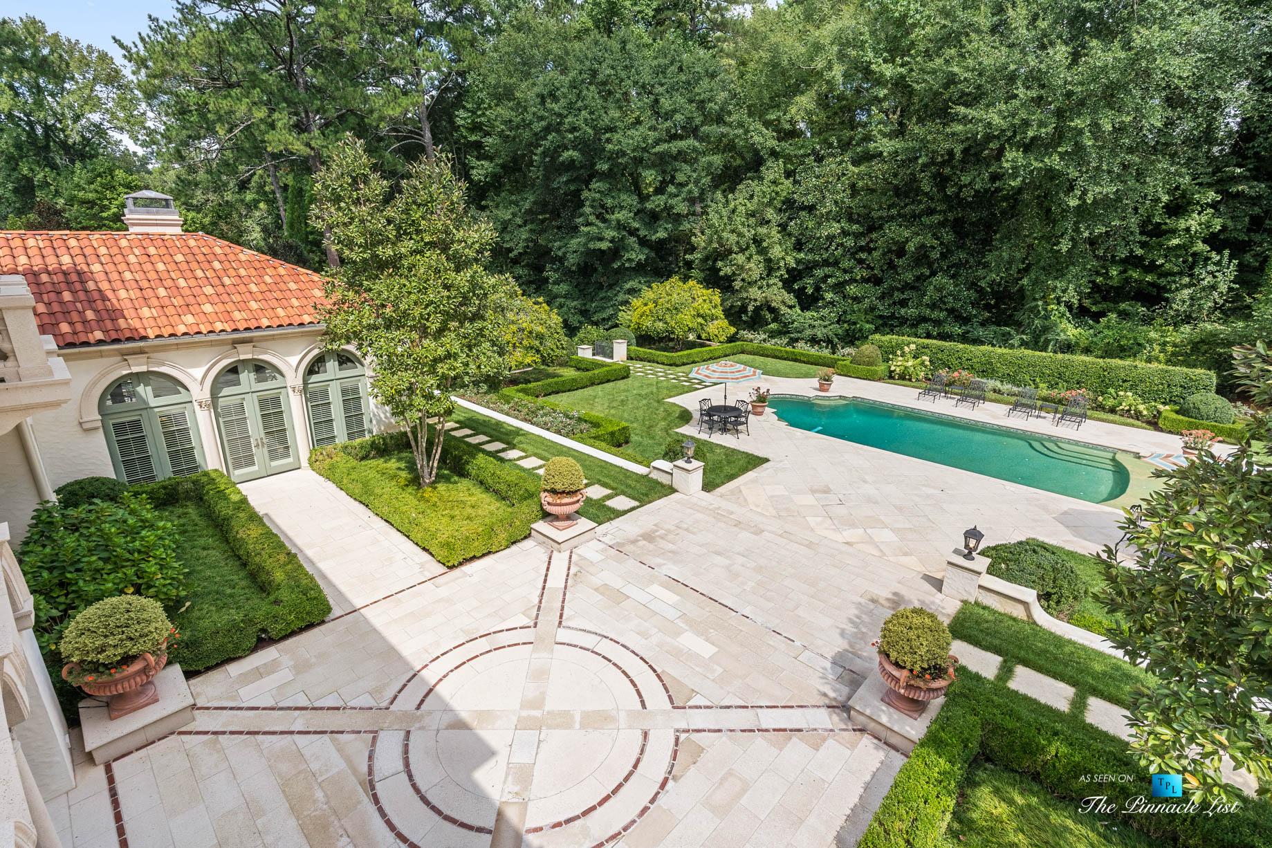 439 Blackland Rd NW, Atlanta, GA, USA - Private Backyard with Pool - Luxury Real Estate - Tuxedo Park Mediterranean Mansion Home