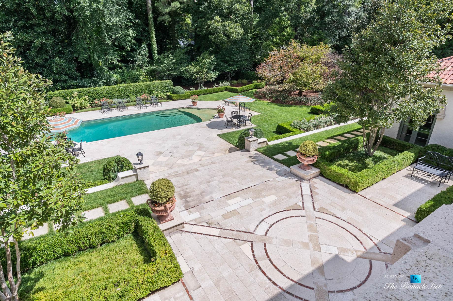 439 Blackland Rd NW, Atlanta, GA, USA – Private Backyard with Pool – Luxury Real Estate – Tuxedo Park Mediterranean Mansion Home
