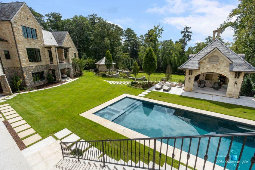 1150 W Garmon Rd, Atlanta, GA, USA - Property Backyard with Pool - Luxury Real Estate - Buckhead Estate Home