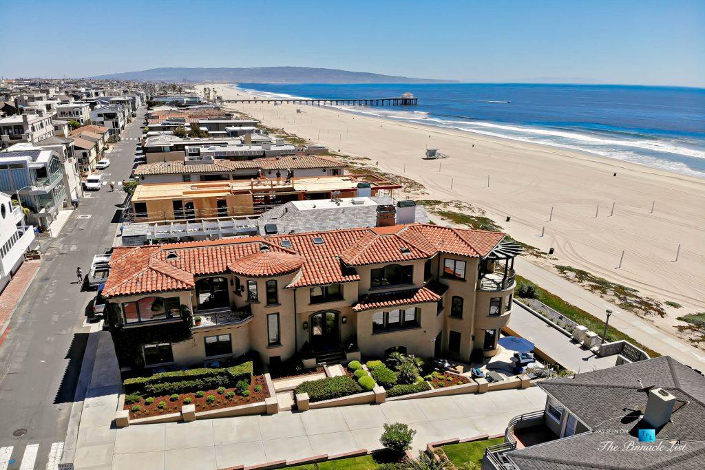Luxury Real Estate - 1920 The Strand, Manhattan Beach, CA, USA - Beachfront Aerial