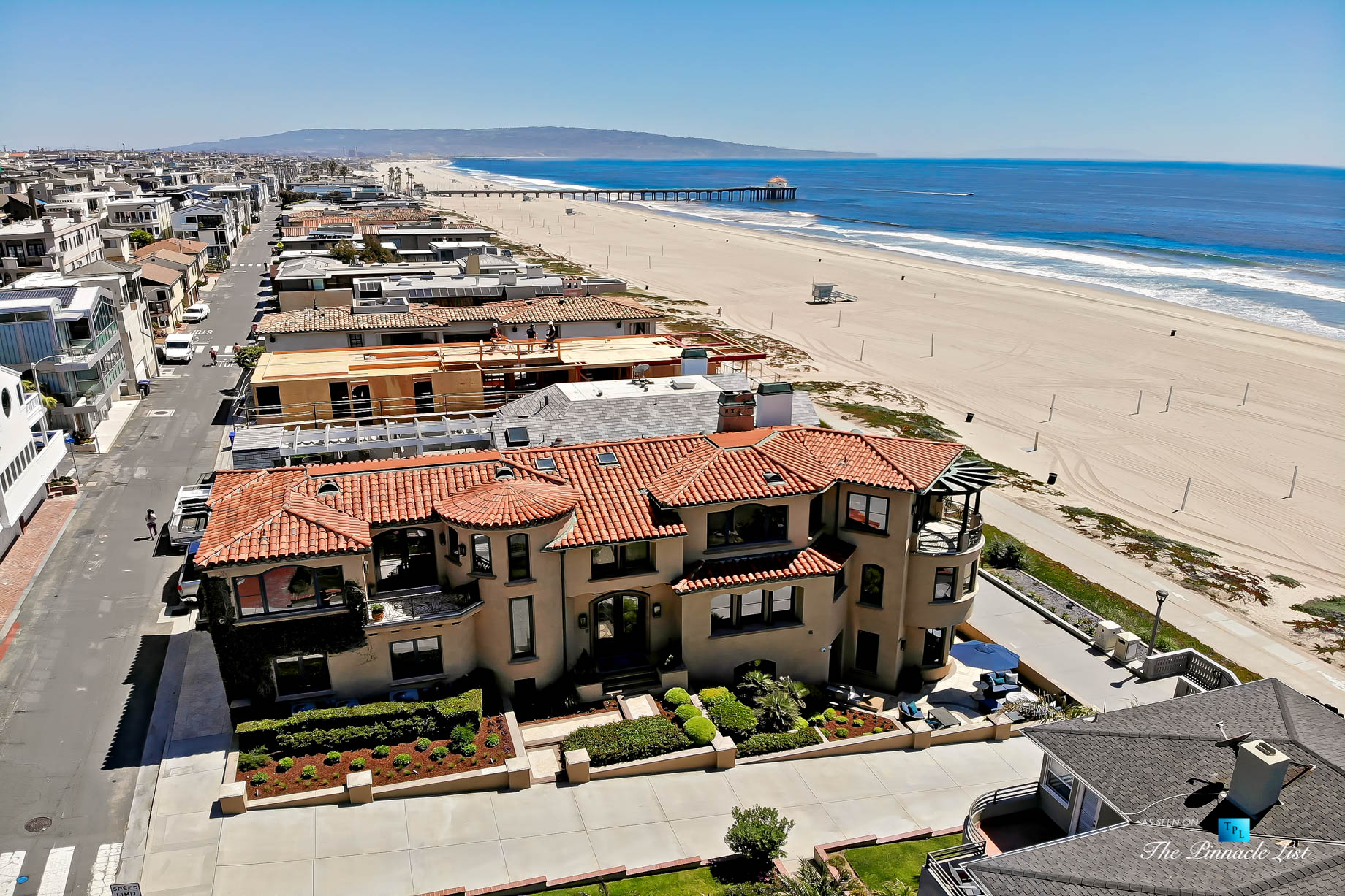 Luxury Real Estate - 1920 The Strand, Manhattan Beach, CA, USA - Beachfront Aerial