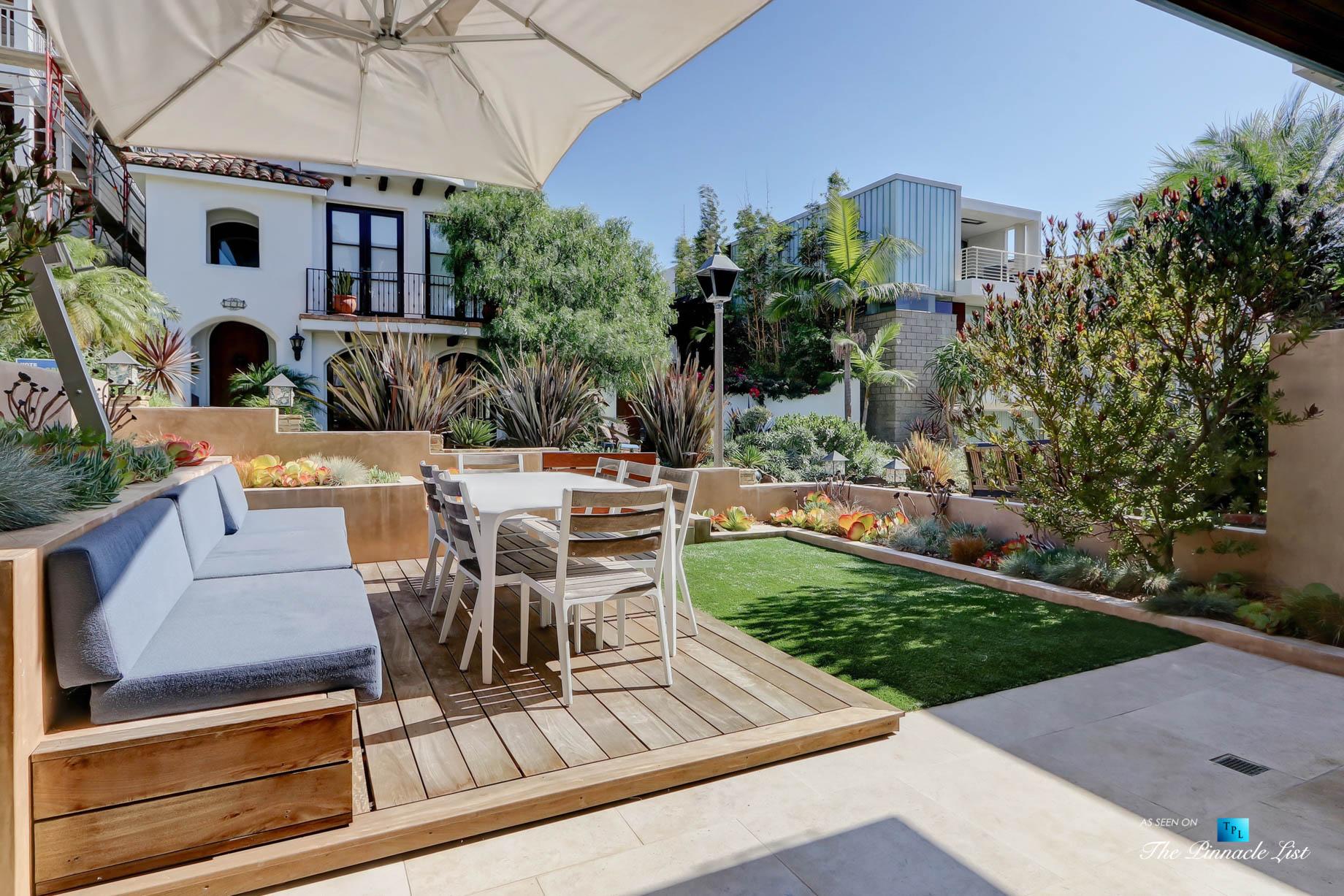 205 20th Street, Manhattan Beach, CA, USA – Patio and Yard – Luxury Real Estate – Ocean View Home