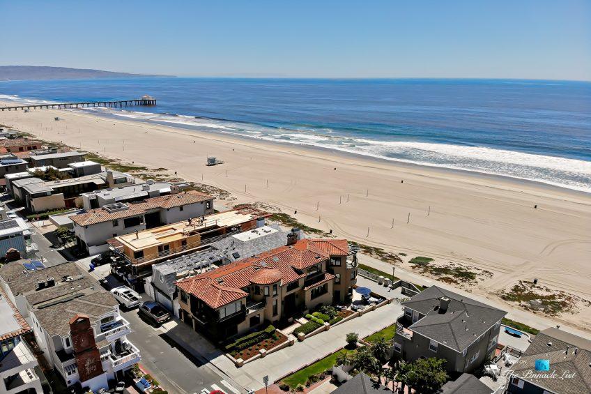 Luxury Real Estate - 1920 The Strand, Manhattan Beach, CA, USA - Beachfront Aerial Ocean View