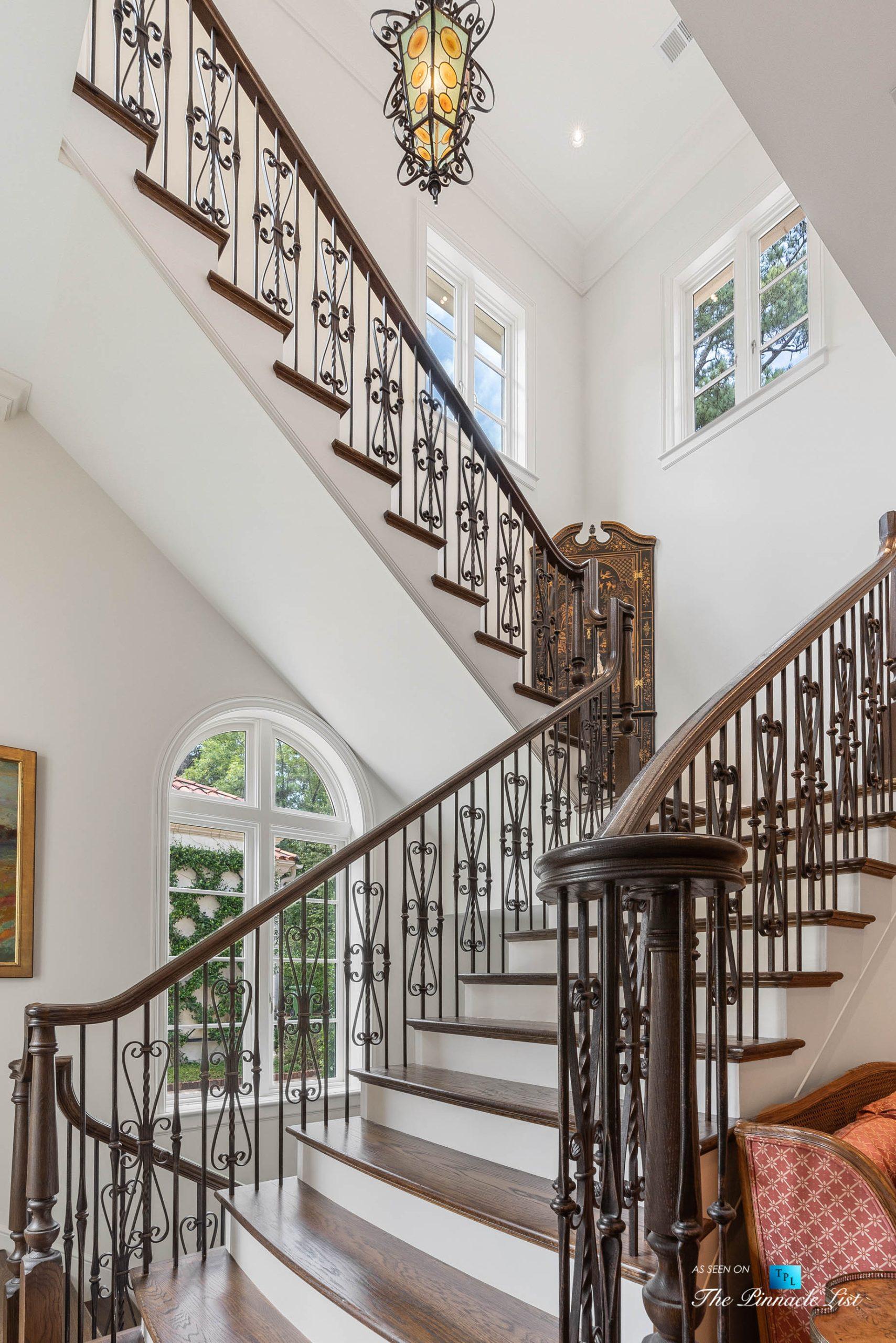 439 Blackland Rd NW, Atlanta, GA, USA – Stairs – Luxury Real Estate – Tuxedo Park Mediterranean Mansion Home