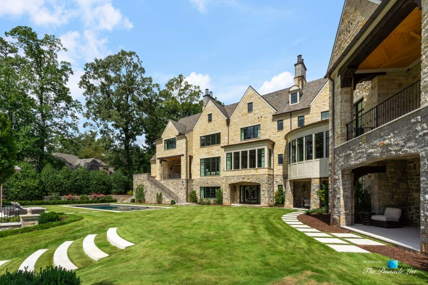 1150 W Garmon Rd, Atlanta, GA, USA - Property Backyard - Luxury Real Estate - Buckhead Estate Home