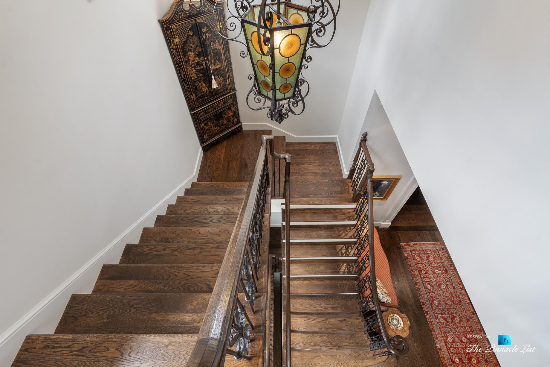 439 Blackland Rd NW, Atlanta, GA, USA - Stairs - Luxury Real Estate - Tuxedo Park Mediterranean Mansion Home