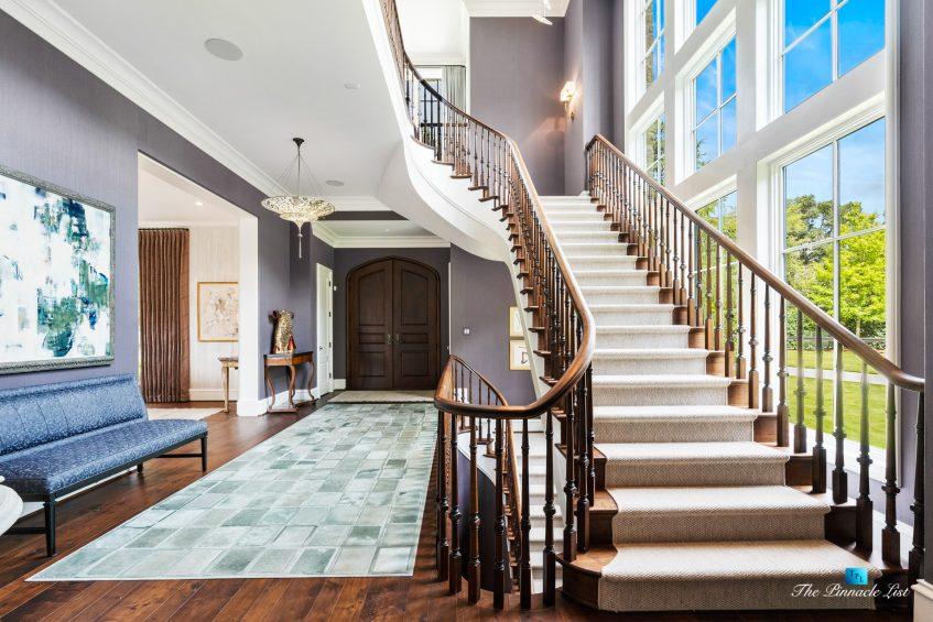 1150 W Garmon Rd, Atlanta, GA, USA - Main Stairs in House - Luxury Real Estate - Buckhead Estate Home