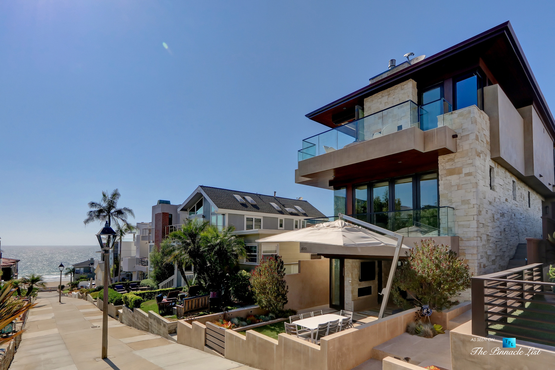 205 20th Street, Manhattan Beach, CA, USA - Front Street Exterior - Luxury Real Estate - Ocean View Home