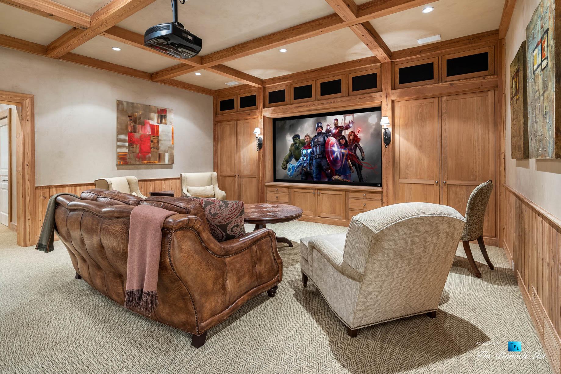 439 Blackland Rd NW, Atlanta, GA, USA - Theatre Room - Luxury Real Estate - Tuxedo Park Mediterranean Mansion Home