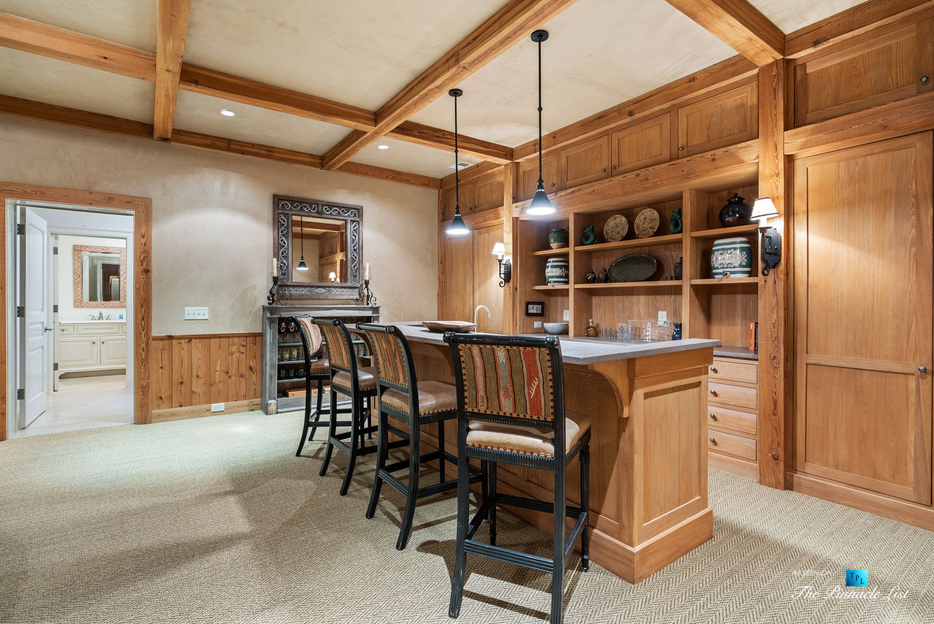 439 Blackland Rd NW, Atlanta, GA, USA - Bar - Luxury Real Estate - Tuxedo Park Mediterranean Mansion Home