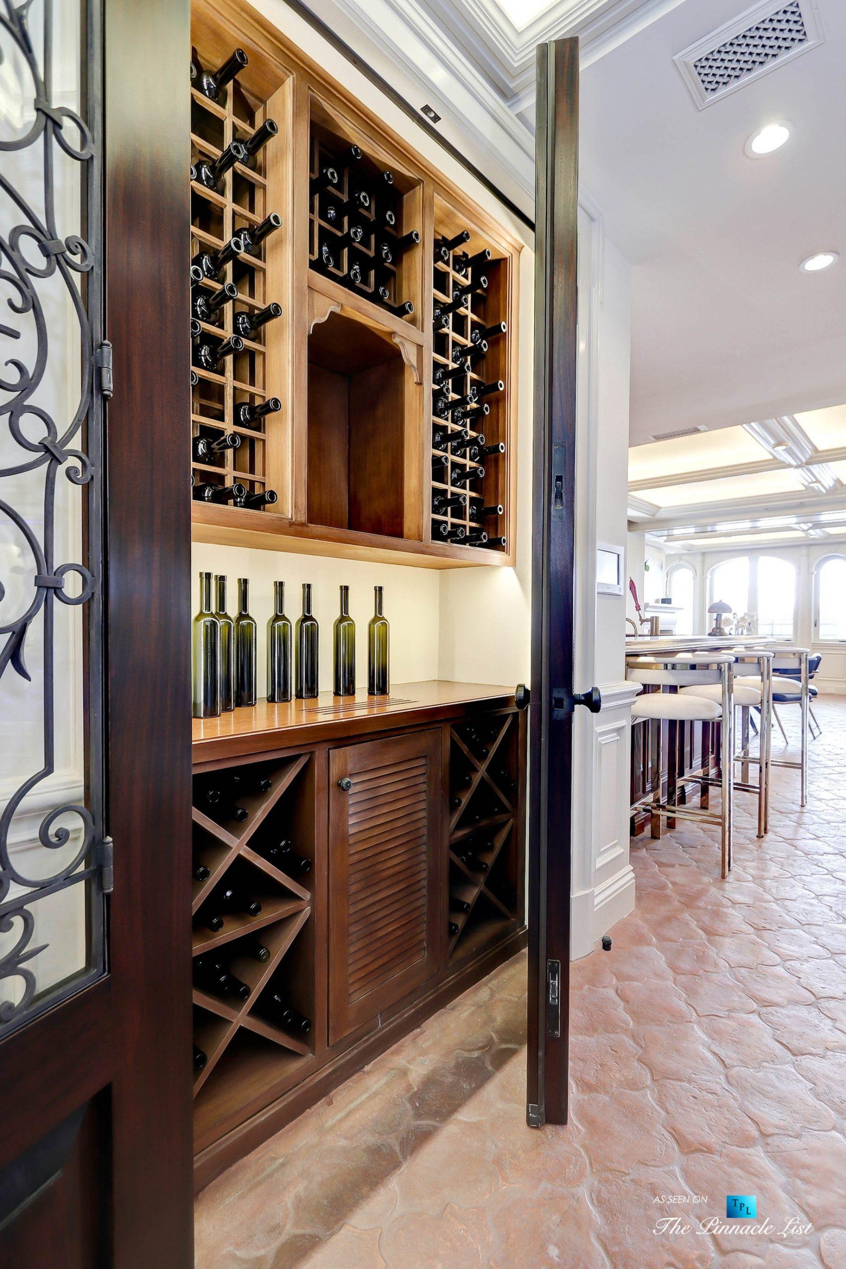 Luxury Real Estate - 2806 The Strand, Hermosa Beach, CA, USA - Gameroom Wine Closet
