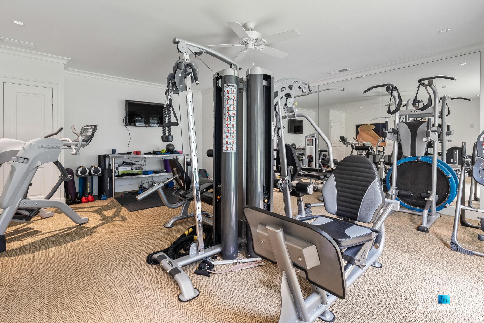 439 Blackland Rd NW, Atlanta, GA, USA - Private Gym - Luxury Real Estate - Tuxedo Park Mediterranean Mansion Home
