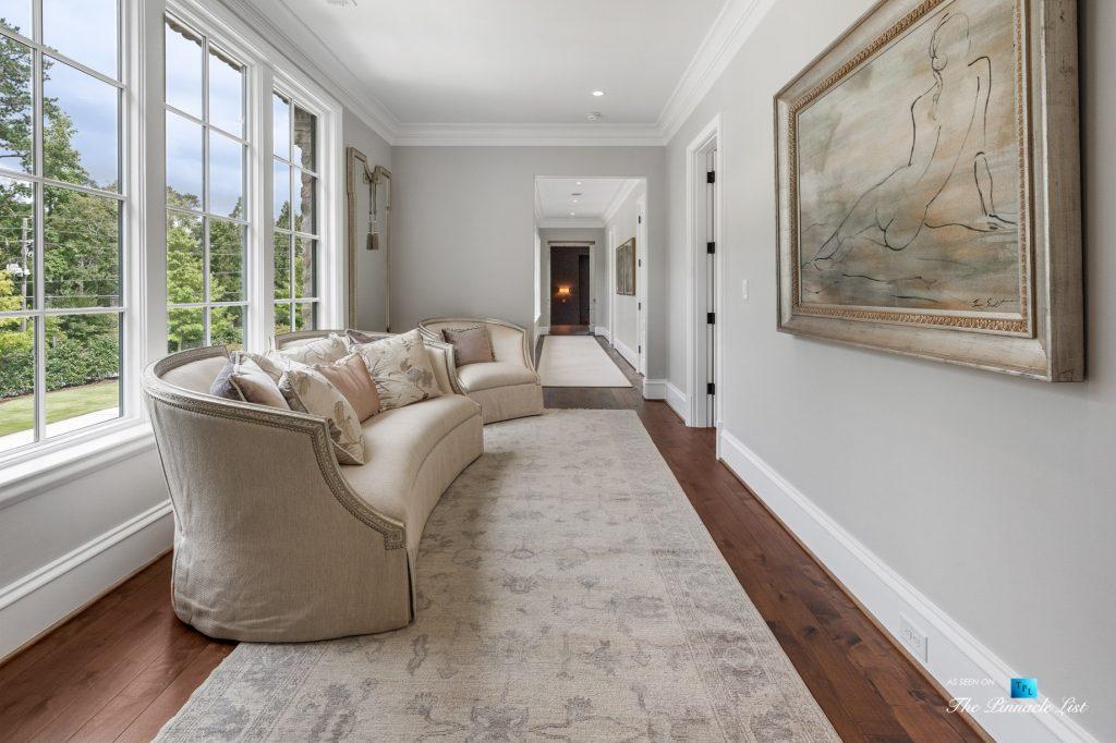 1150 W Garmon Rd, Atlanta, GA, USA - Hallway Seating Area - Luxury Real Estate - Buckhead Estate Home
