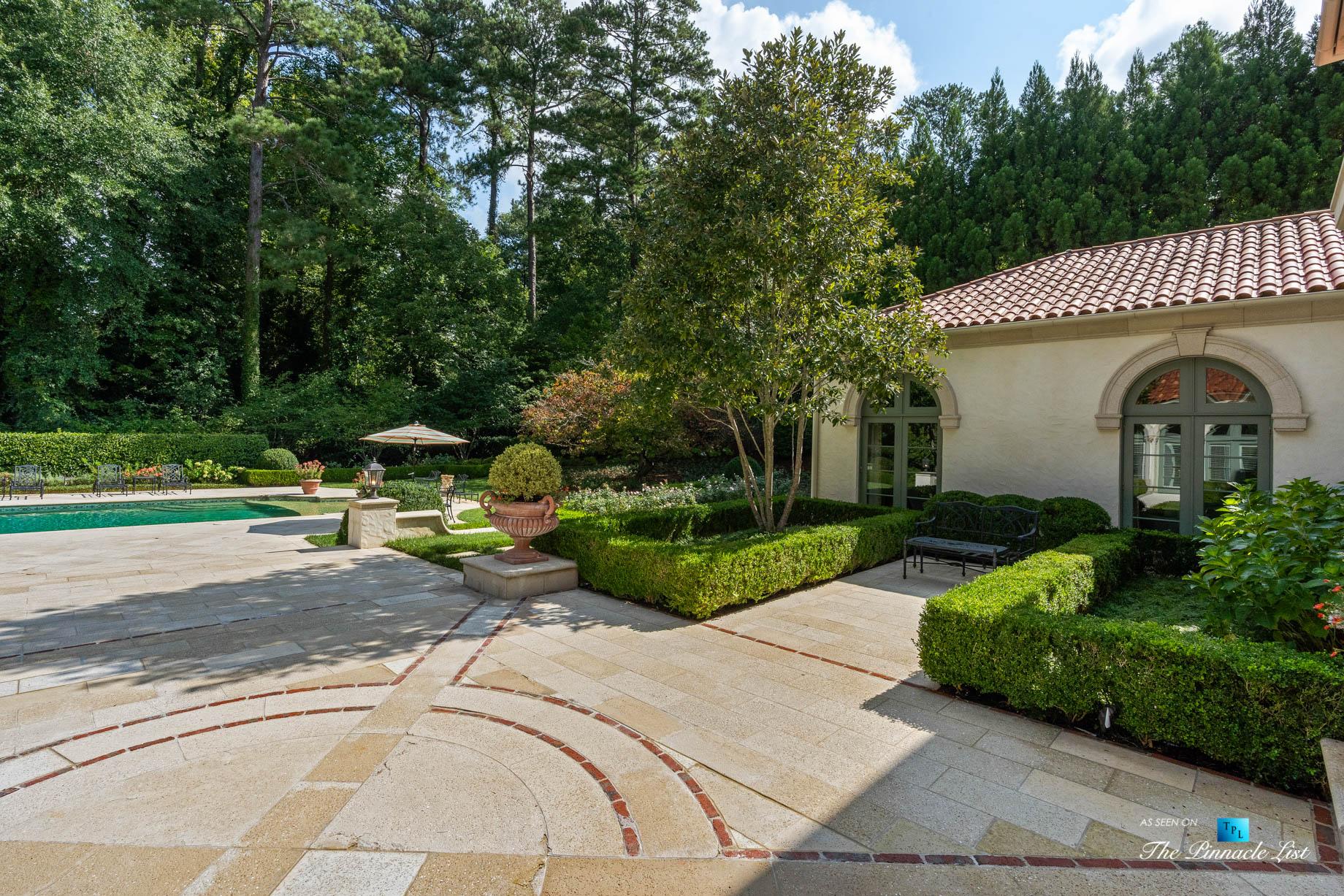 439 Blackland Rd NW, Atlanta, GA, USA - Backyard Pool Grounds - Luxury Real Estate - Tuxedo Park Mediterranean Mansion Home