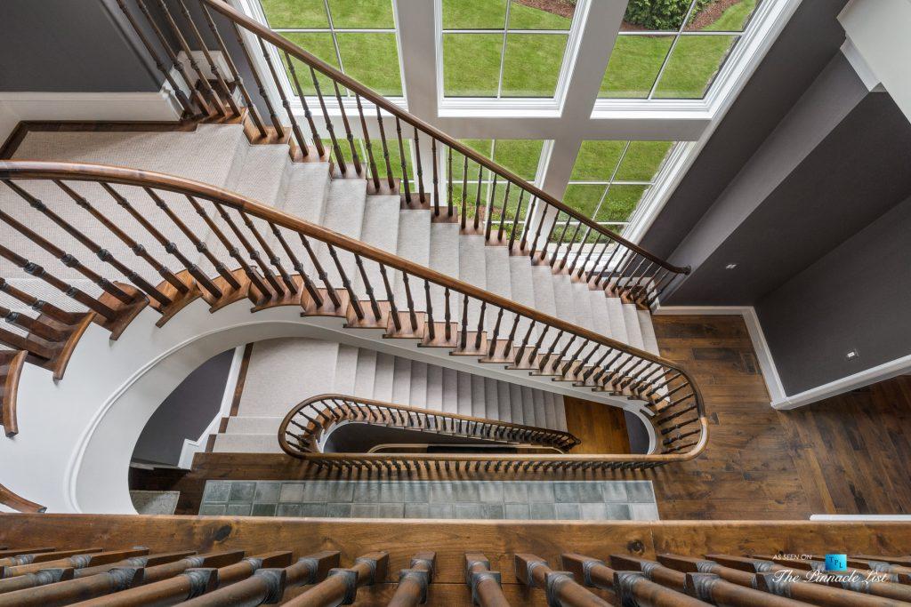 1150 W Garmon Rd, Atlanta, GA, USA - Main Stairs Looking Down - Luxury Real Estate - Buckhead Estate Home