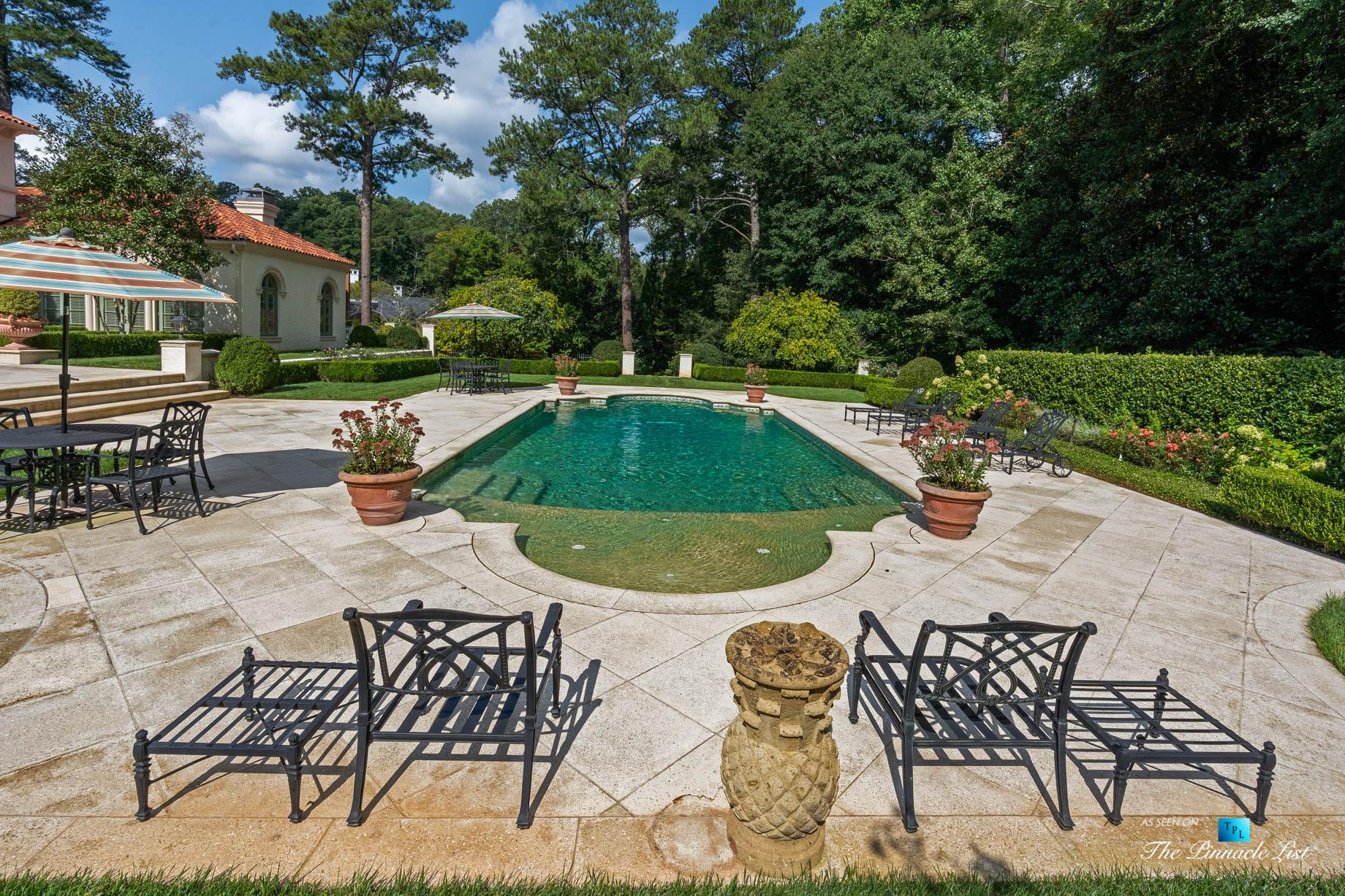 439 Blackland Rd NW, Atlanta, GA, USA – Luxurious Property Pool – Luxury Real Estate – Tuxedo Park Mediterranean Mansion Home