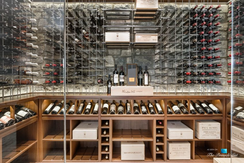 1150 W Garmon Rd, Atlanta, GA, USA - Luxurious Glass Fronted Wine Room - Luxury Real Estate - Buckhead Estate Home