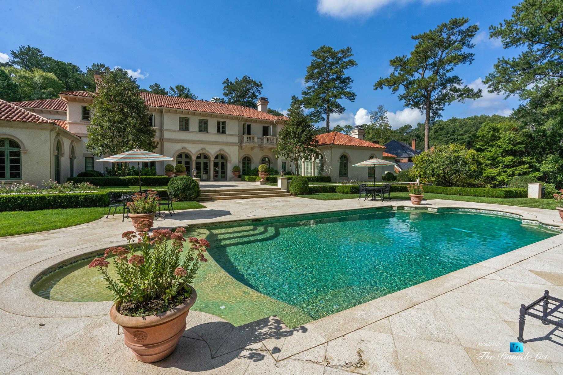439 Blackland Rd NW, Atlanta, GA, USA - Luxurious Property Pool - Luxury Real Estate - Tuxedo Park Mediterranean Mansion Home