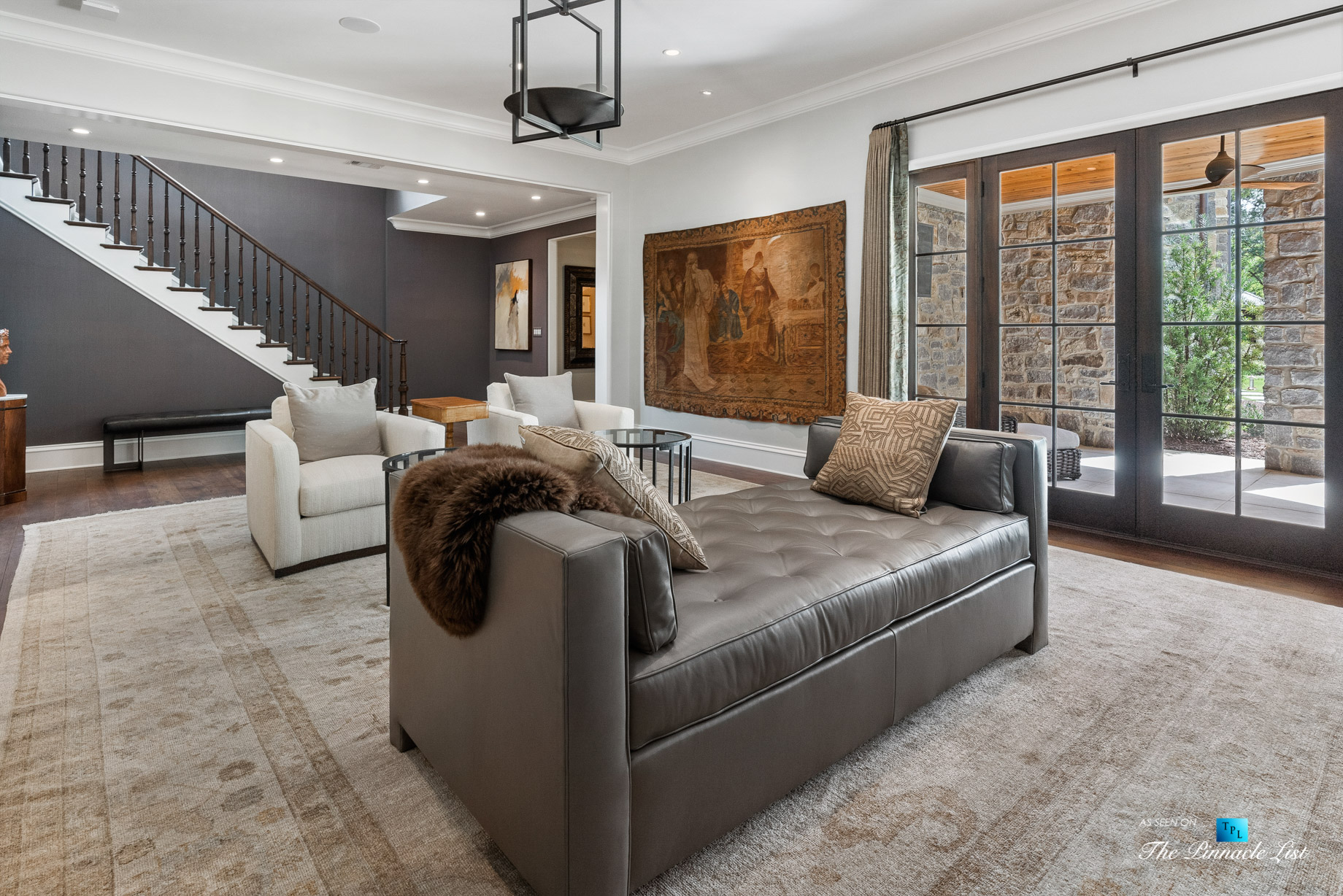1150 W Garmon Rd, Atlanta, GA, USA – Sitting Area – Luxury Real Estate – Buckhead Estate Home