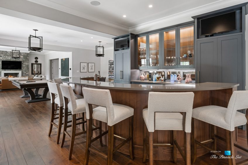 1150 W Garmon Rd, Atlanta, GA, USA - Bar Chairs Sitting Area - Luxury Real Estate - Buckhead Estate Home