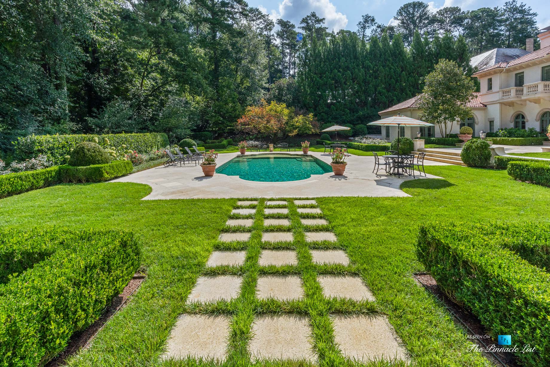 439 Blackland Rd NW, Atlanta, GA, USA – Luxurious Property Pool – Luxury Real Estate – Tuxedo Park Mediterranean Mansion Home