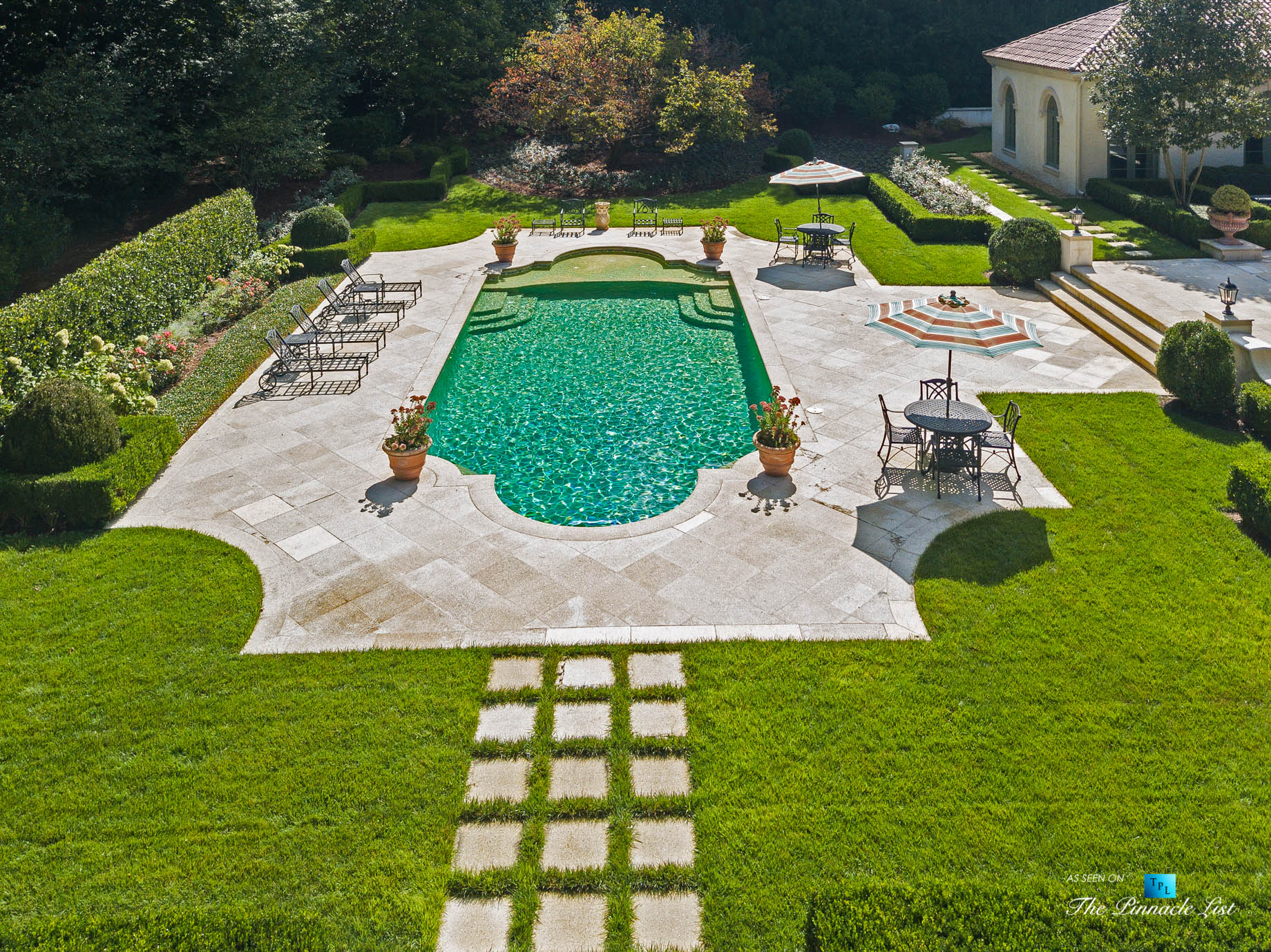 439 Blackland Rd NW, Atlanta, GA, USA - Luxurious Property Pool - Luxury Real Estate - Tuxedo Park Mediterranean Mansion Home