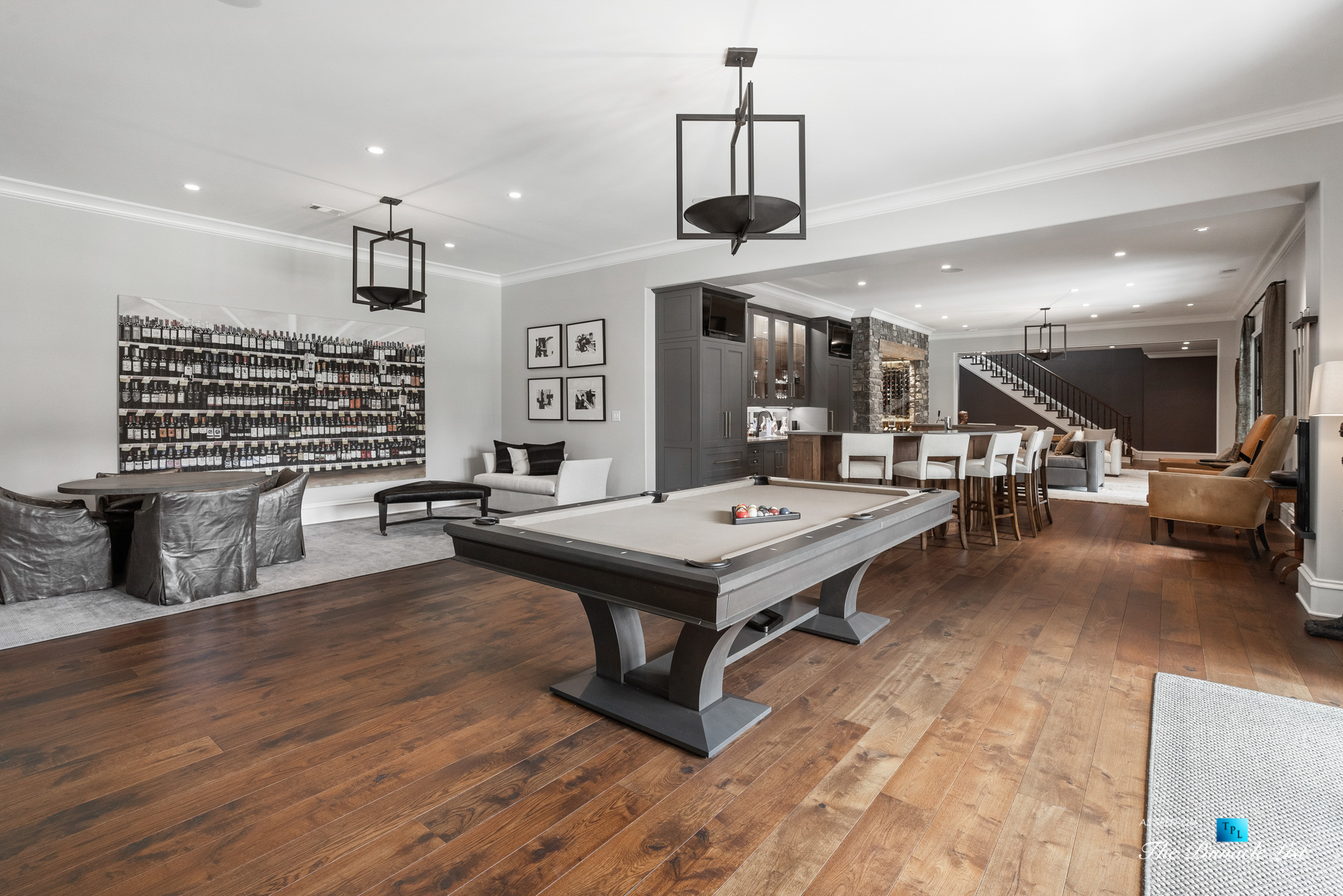 1150 W Garmon Rd, Atlanta, GA, USA - Recreation Room with Pool Table - Luxury Real Estate - Buckhead Estate Home