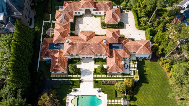 439 Blackland Rd NW, Atlanta, GA, USA - Drone Aerial View Luxurious Property - Luxury Real Estate - Tuxedo Park Mediterranean Mansion Home