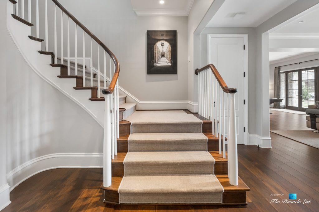 1150 W Garmon Rd, Atlanta, GA, USA - Stairs - Luxury Real Estate - Buckhead Estate Home