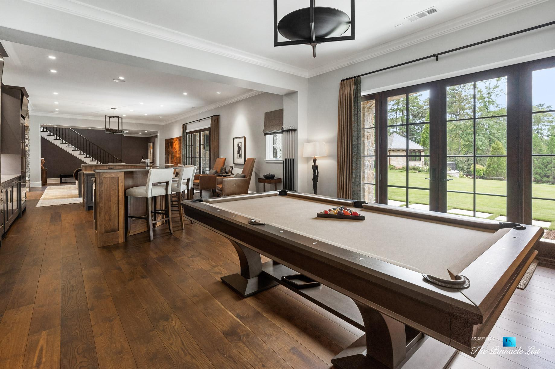 1150 W Garmon Rd, Atlanta, GA, USA – Recreation Room Pool Table – Luxury Real Estate – Buckhead Estate Home