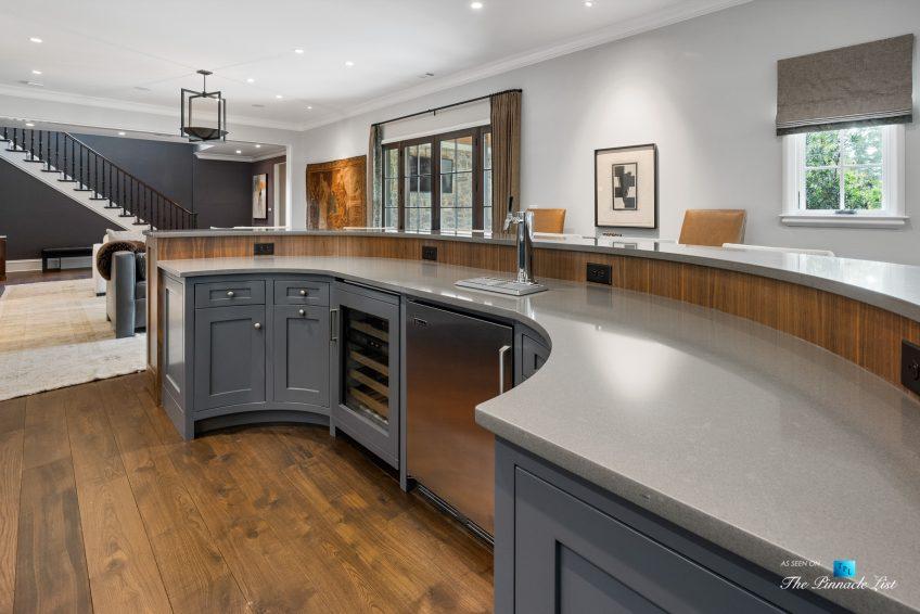 1150 W Garmon Rd, Atlanta, GA, USA - Recreation Room Curved Bar - Luxury Real Estate - Buckhead Estate Home