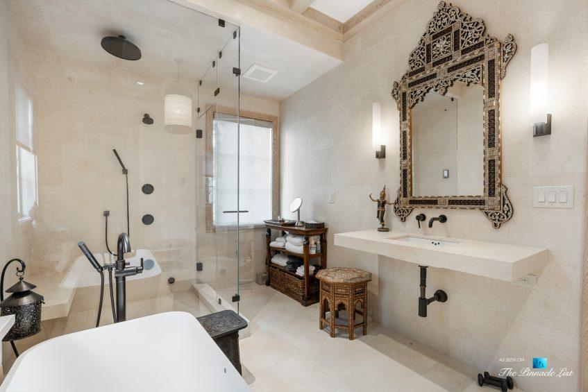 1150 W Garmon Rd, Atlanta, GA, USA - Private Bathroom with Sauna - Luxury Real Estate - Buckhead Estate Home