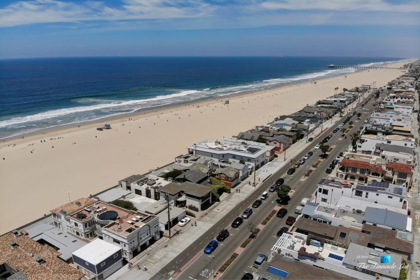 2806 The Strand, Hermosa Beach, CA, USA - Drone Aerial Beach View - Luxury Real Estate - Oceanfront Home