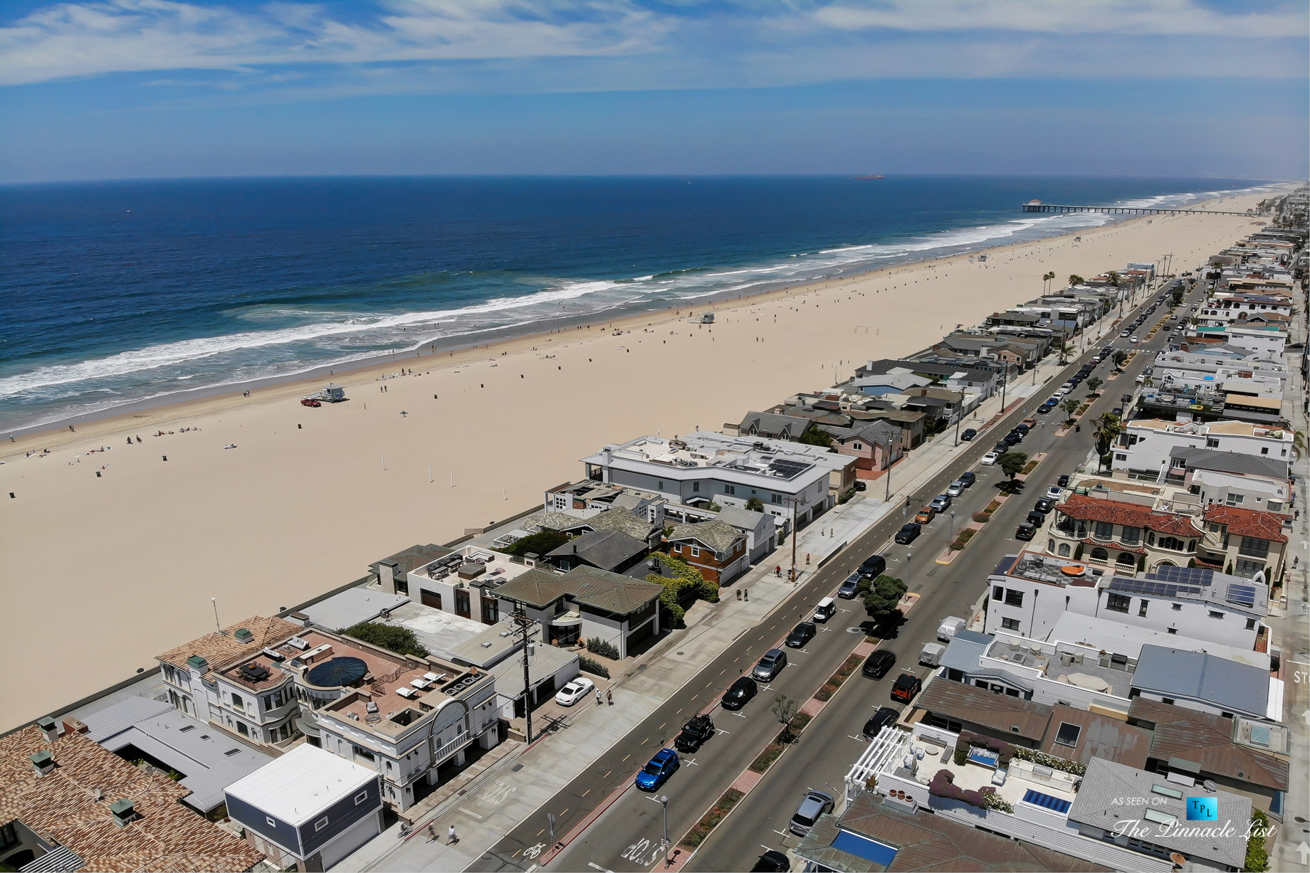 Luxury Real Estate - 2806 The Strand, Hermosa Beach, CA, USA - Aerial North