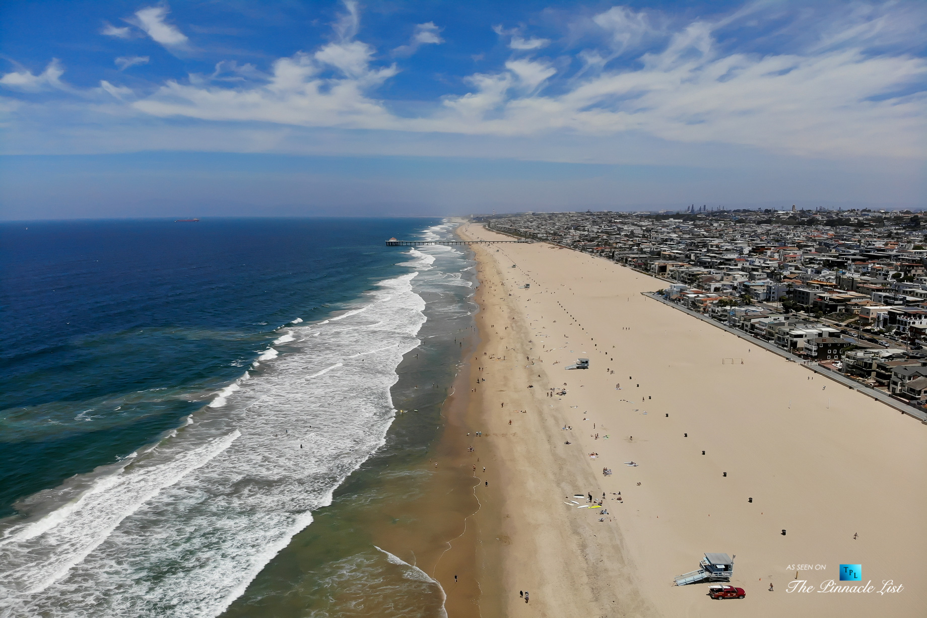 2806 The Strand, Hermosa Beach, CA, USA – Drone Aerial Beach View – Luxury Real Estate – Oceanfront Home