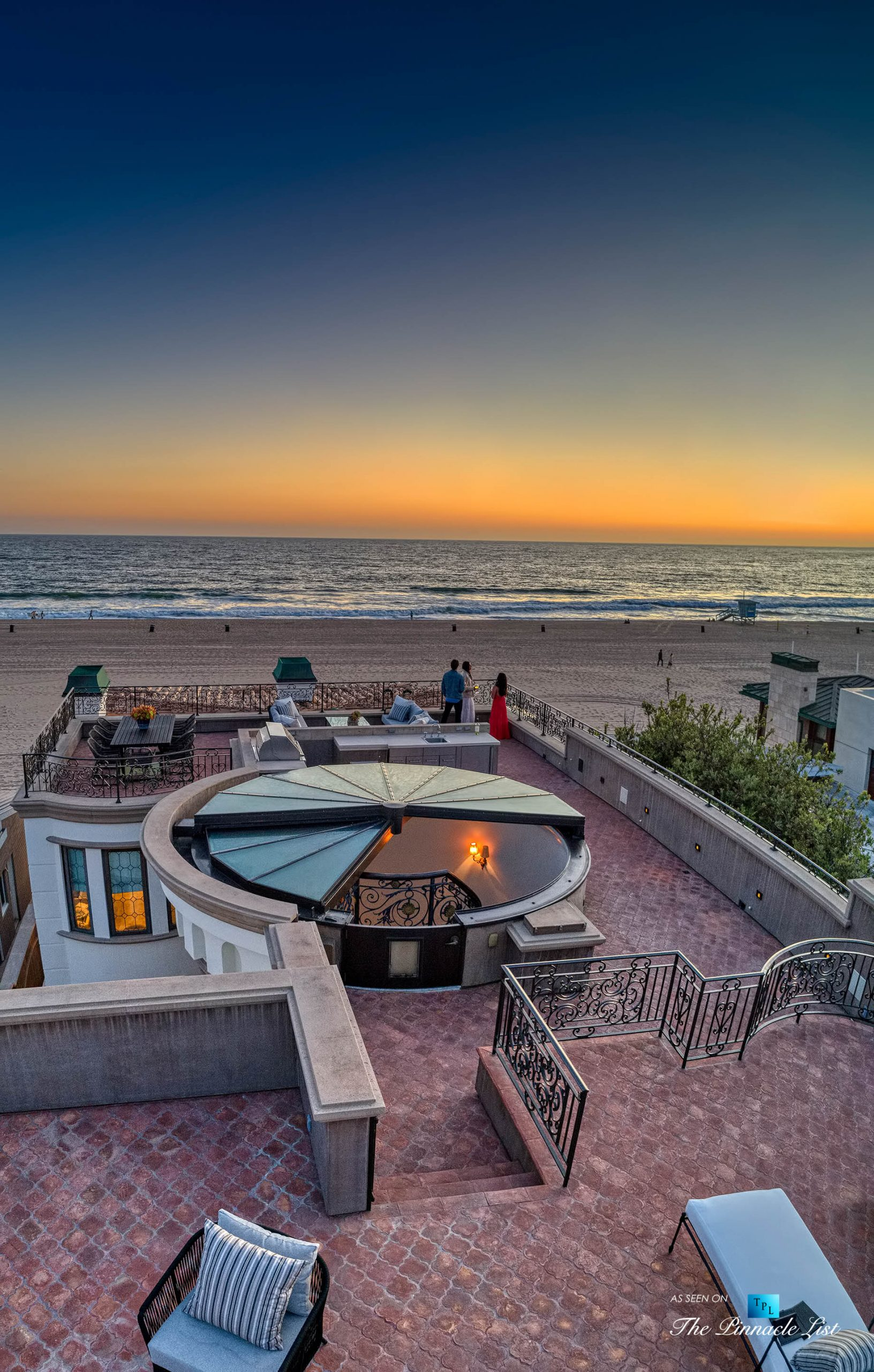 Luxury Real Estate - 2806 The Strand, Hermosa Beach, CA, USA - Rooftop Deck Sunset