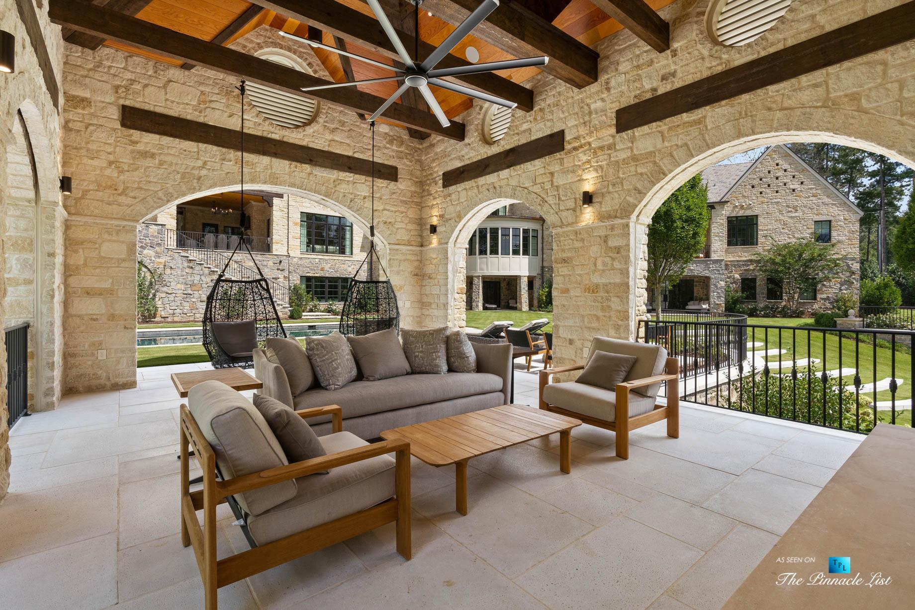 1150 W Garmon Rd, Atlanta, GA, USA – Outdoor Covered Patio – Luxury Real Estate – Buckhead Estate Home