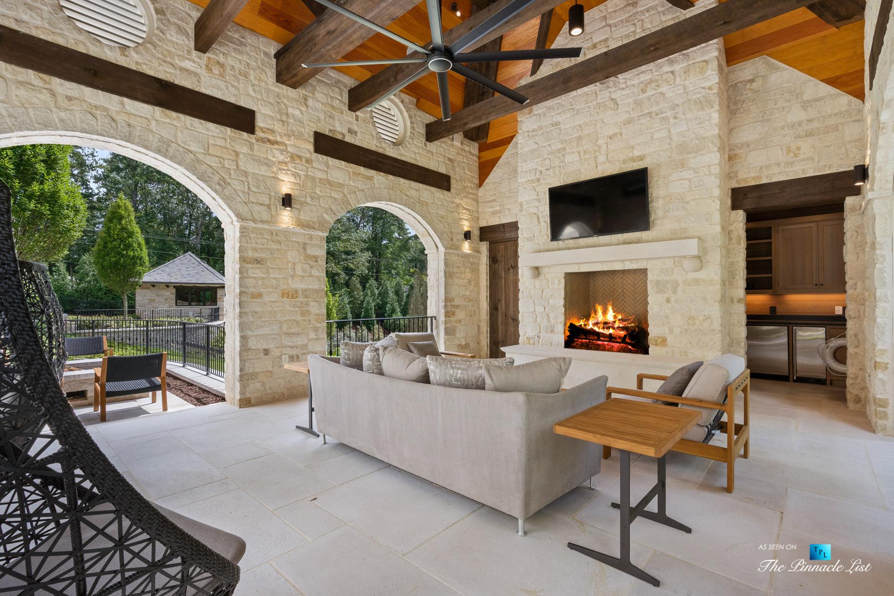 1150 W Garmon Rd, Atlanta, GA, USA - Outdoor Covered Patio - Luxury Real Estate - Buckhead Estate Home