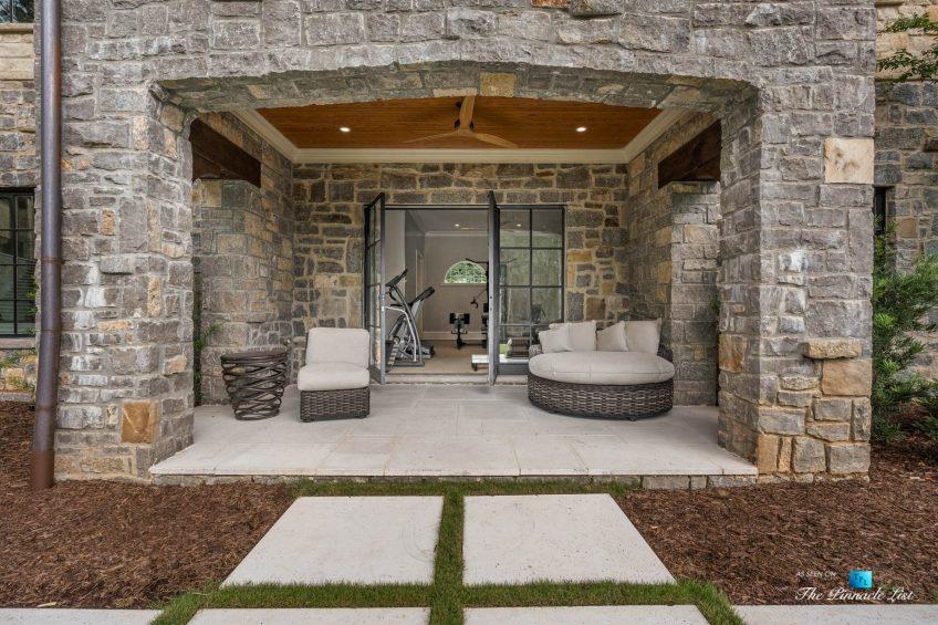 1150 W Garmon Rd, Atlanta, GA, USA - Private Home Gym Exterior Entrance - Luxury Real Estate - Buckhead Estate House