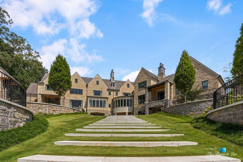 1150 W Garmon Rd, Atlanta, GA, USA - Backyard Property Landscape Stairs - Luxury Real Estate - Buckhead Estate House
